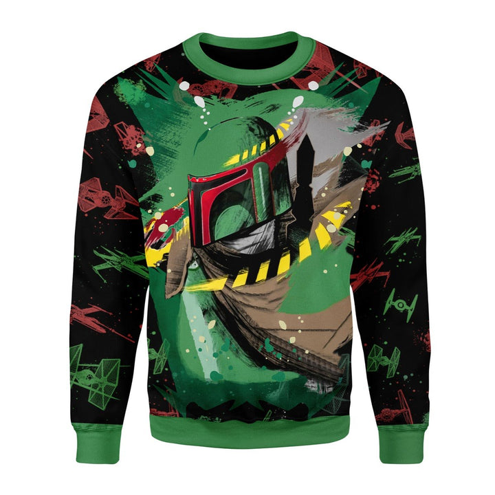 Mandalorian Bounty Hunter 3D Fleece Long Sleeves