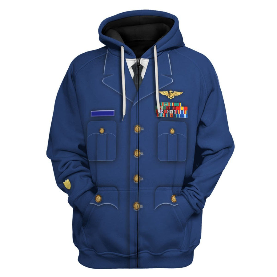 Us Coast Guard Dress Blues Fleece Zip Hoodie / S Vn871