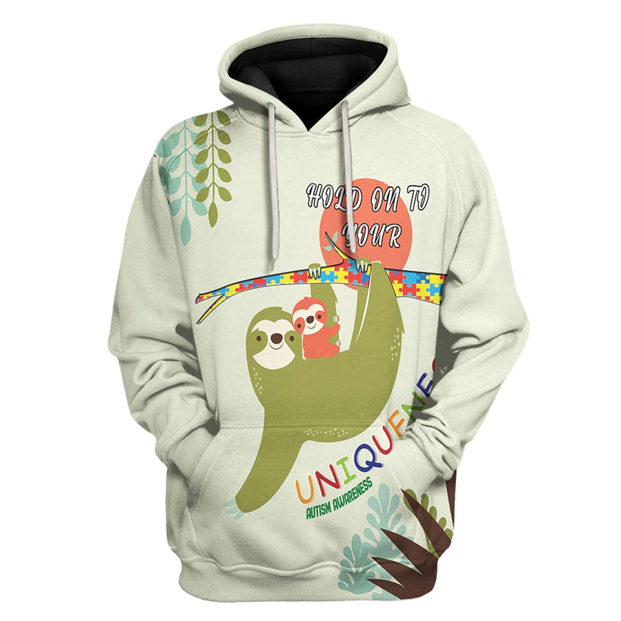 Hold On You Uniqueness Autism Awareness Hoodie / Xs Au17221