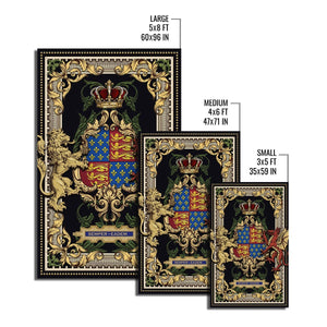 Queen Elizabeth I Coat Of Arms Rug Qm1431
