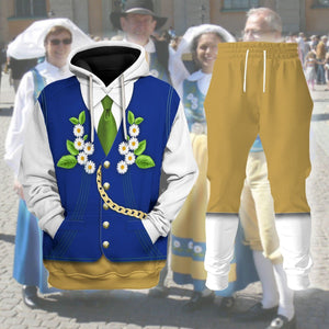 Swedes In National Costume Vn399