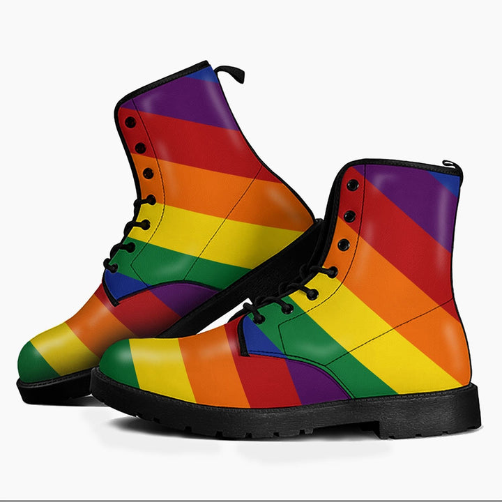 Lgbt Leather Boots Men / 6 Qm1686