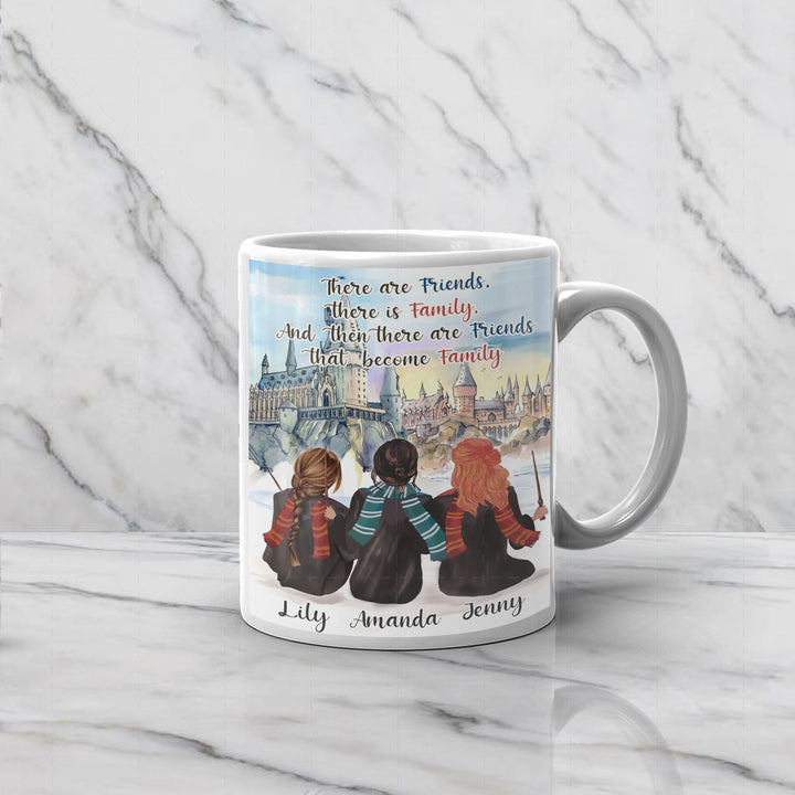 There Are Friends That Become Family Custom Name Mug