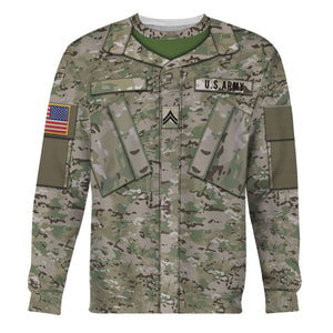Us Army Combat Uniform Private E2 Long Sleeves / S Vn456