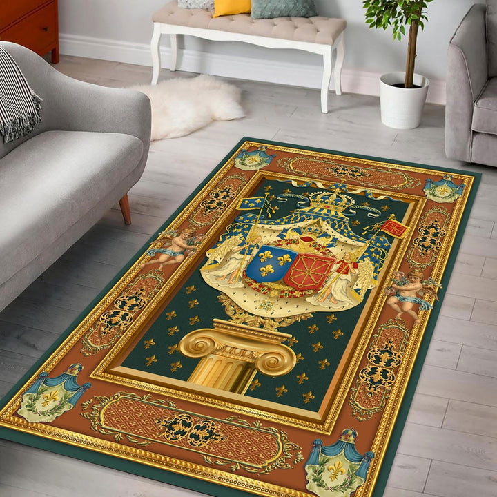 French King Louis Xv Rug / Small (3 X 5 Feet - 35 59 Inches) Qm1421