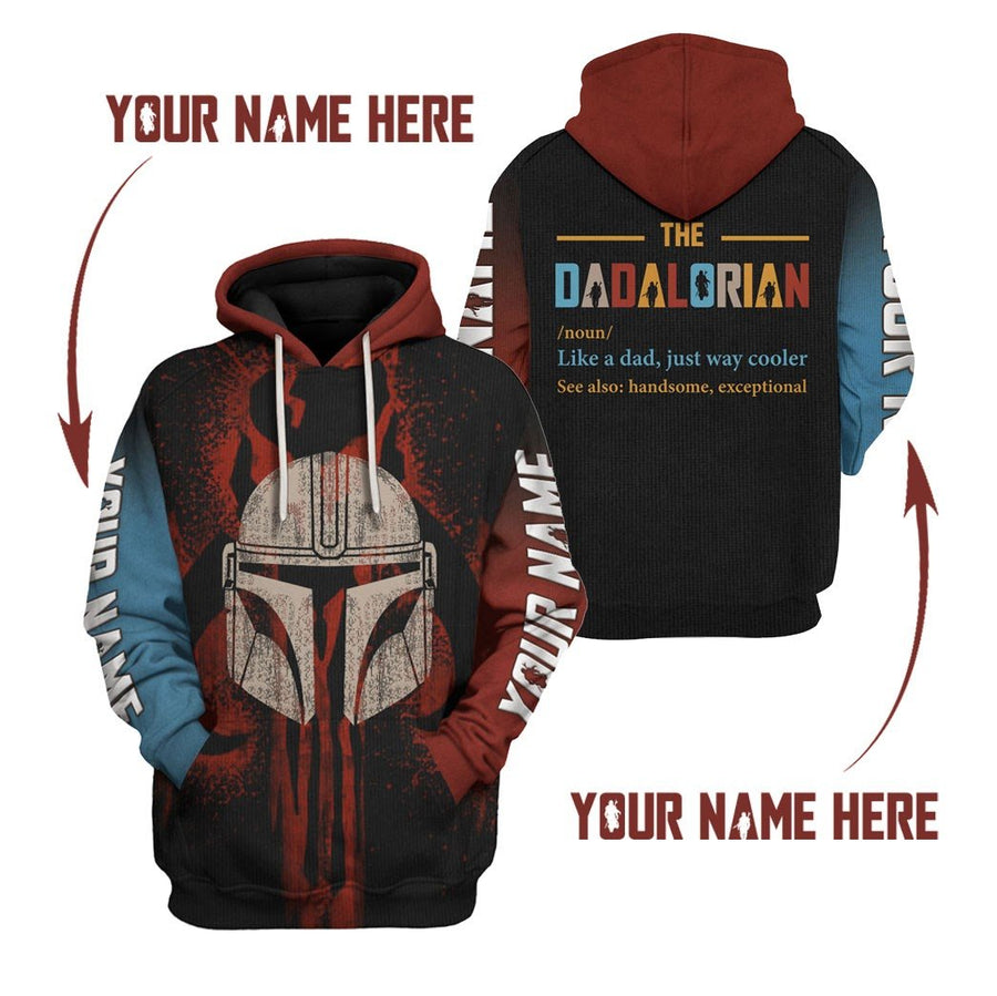 The Dadalorian Custom Name Qm521 Hoodie / S