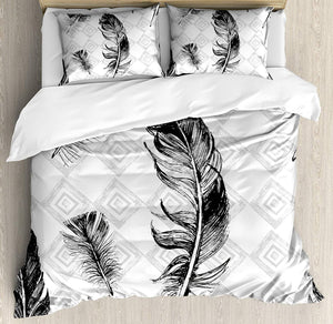 Gearhomies 3D Custom Bedding Set Feather Quill Bd002