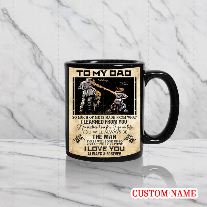 Personalized Mug - Father Rider And Son