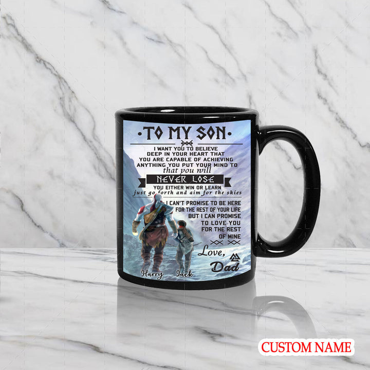 Customized Name Mug - To My Son Viking