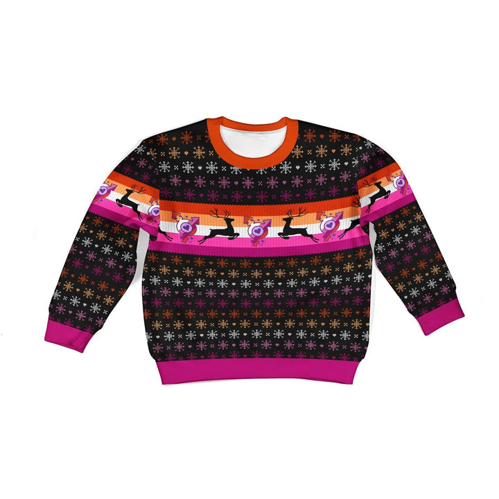 Lesbian Flag Kids Uiy Sweater Kid Christmas / 2Xs G549