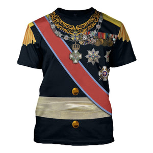 Carol I Of Romania T-Shirt / S Qm877