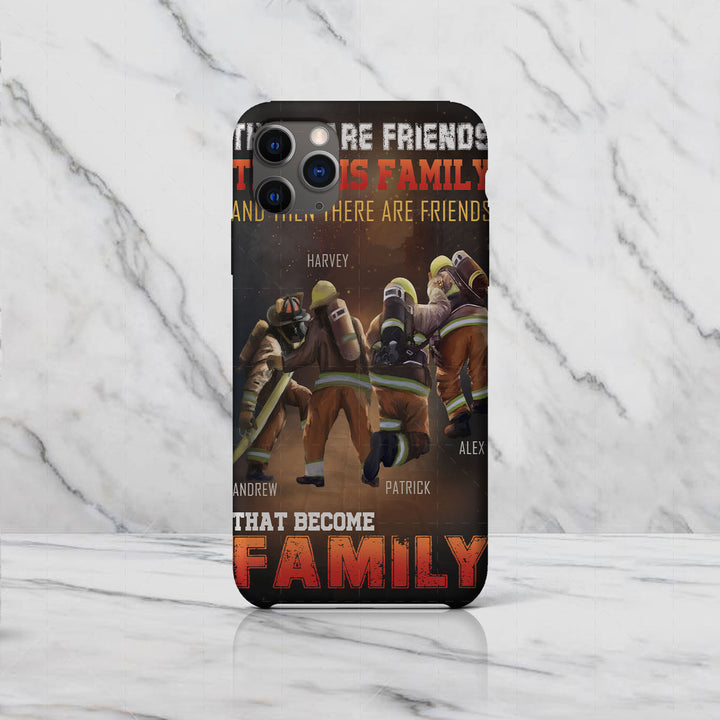 Customized Name Phone Case - There Are Friends, There Is Family, And Then There Are Friends That Become Family
