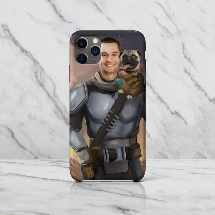 Beska Mandalorian And Pet Custom Phone Case