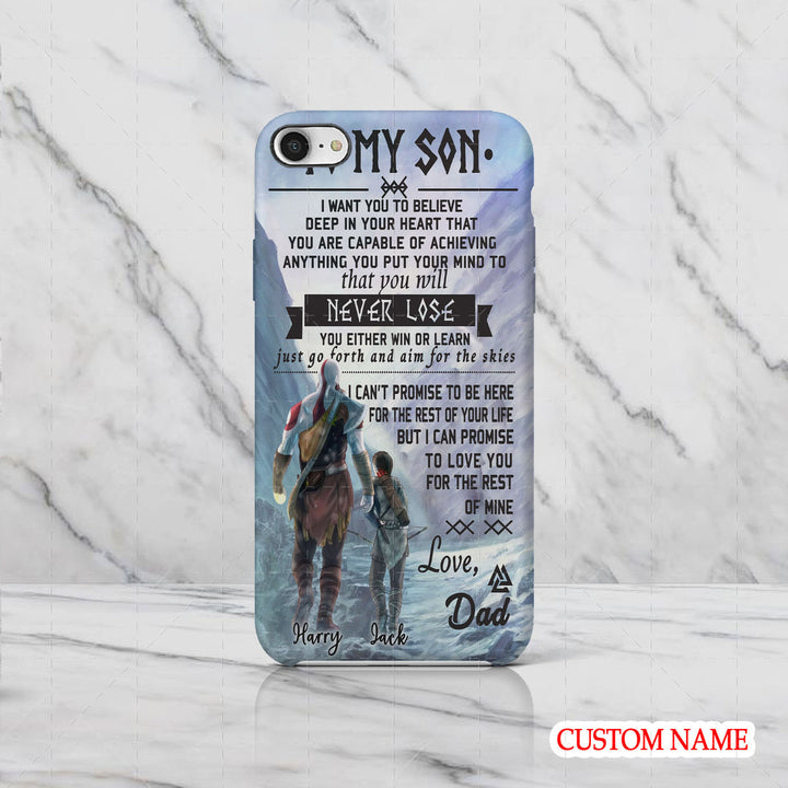 To My Son Viking Customized Name Phone Case