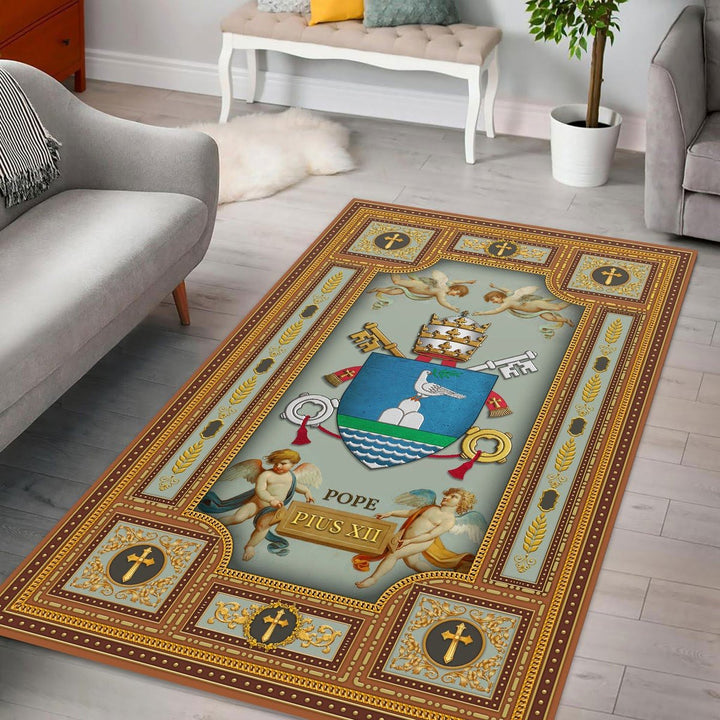 Pope Pius Xii Coat Of Arms Rug / Small (3 X 5 Feet 35 59 Inches) Qm1274