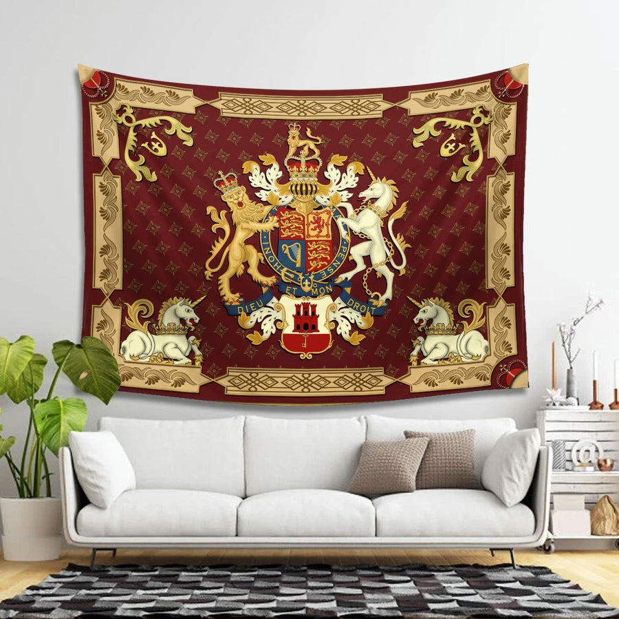 Queen Elizabeth Ii Tapestry - 4 Holes / S (27.6 X 39.4 Inches 2.3 3.2 Feet) Qm1151