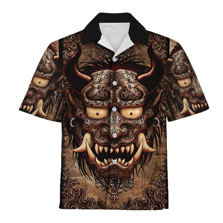 Japanese Demon Hawaiian Shirt / S Qm889