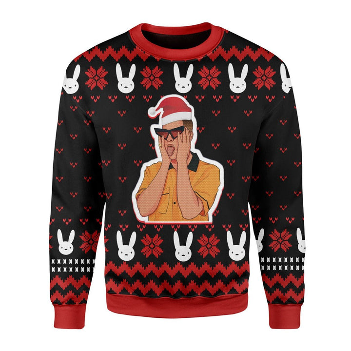 Bad Bunny Ugly Sweater Christmas / S Qm1742