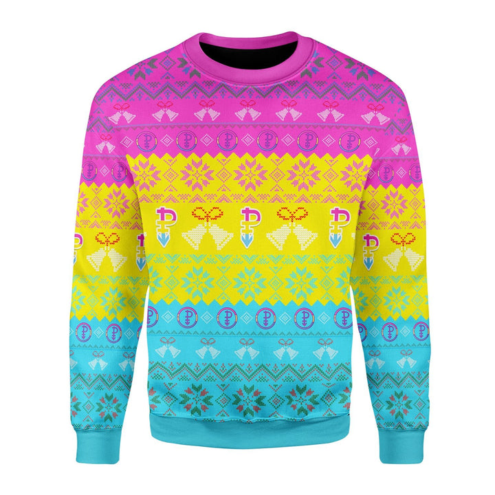 Pansexual Pride Flag Ugly Sweater / S Kd737