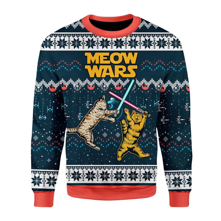 Meow Wars Christmas Ugly Sweater / S G724