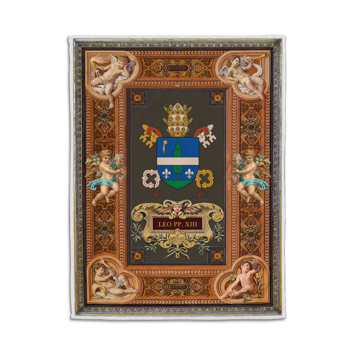 Leo Xiii Coat Of Arms Blanket Qm1340