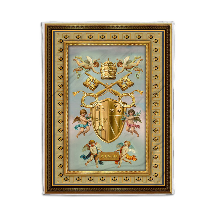 Pius Vii Coat Of Arm Blanket Qm1321