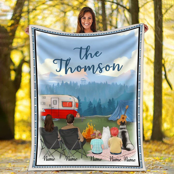 Personalized Name Family Camping Blanket