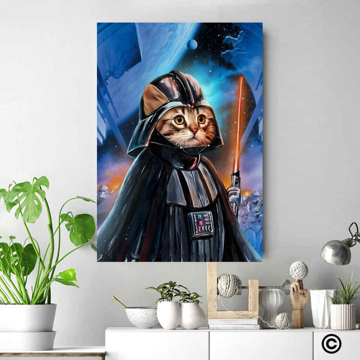 CP-ST-HM001 Personalize Photos Canvas Star Wars Canvas Wall Art Grumpy Vader