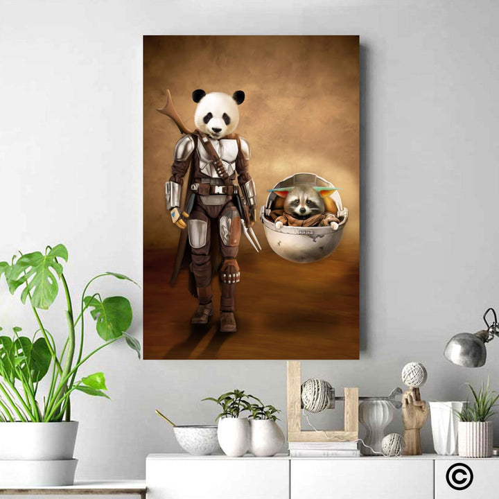Customized Photos Canvas Poster Pandalorian Wall Art