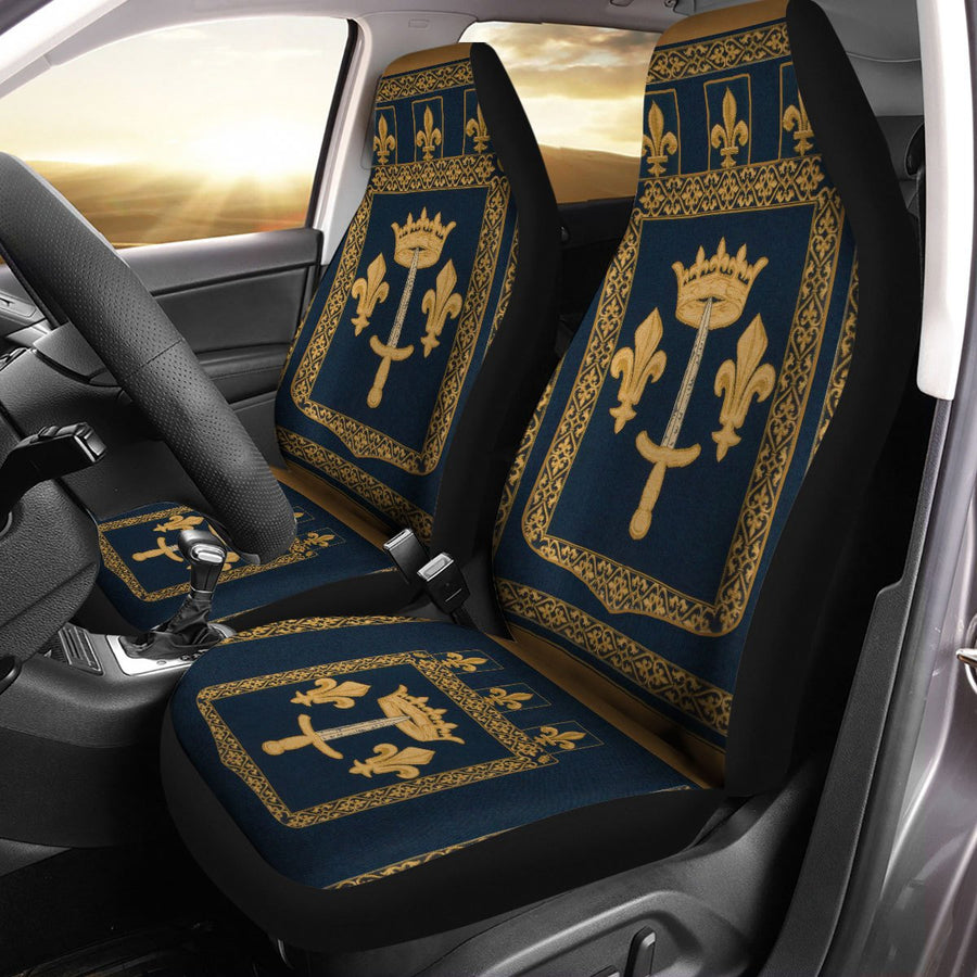 Joan Of Arc Coat Arms Seat Car Covers Qm669