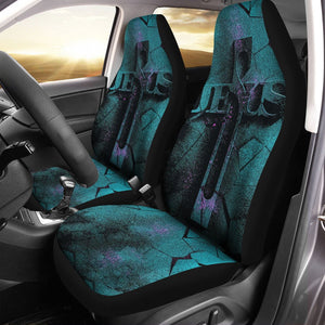 Jesus Car Seat Covers Holy / Universal Fit Qm715