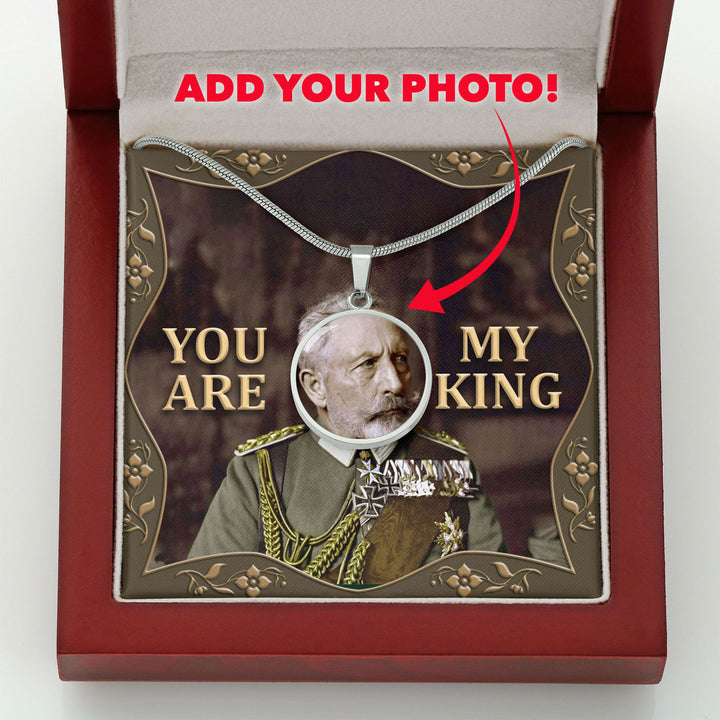 Wilhelm II Customized Photo Circle Pendant with POD Message Card