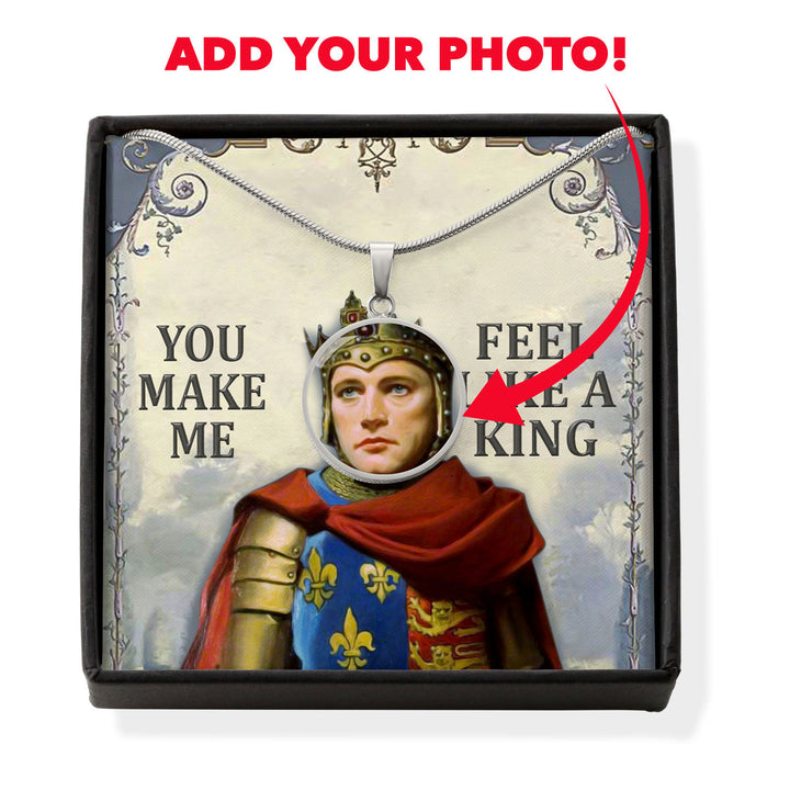 Henry V Customized Photo Circle Pendant With POD Message Card