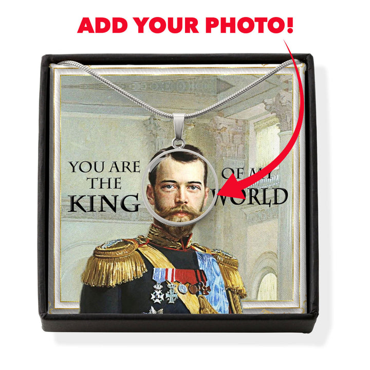 Nicholas II of Russia Customized Photo Circle Pendant Necklace