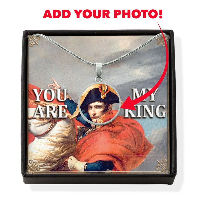 Napoléon Bonaparte Customized Photo Circle Pendant With POD Message Card