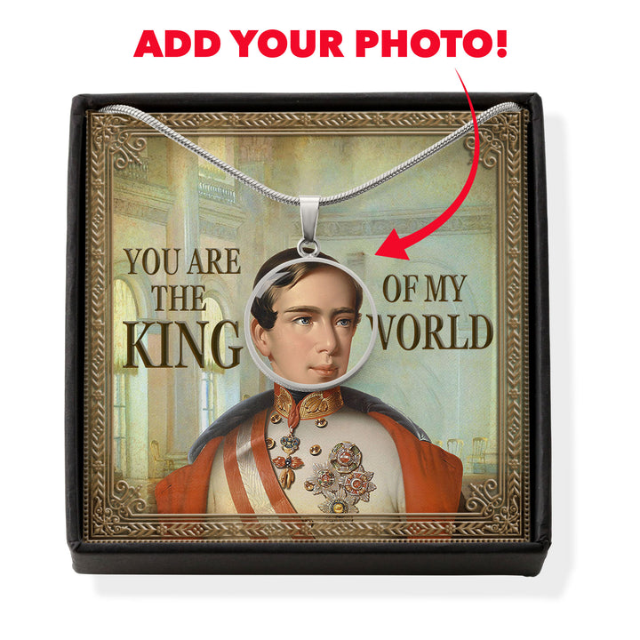 Emperor Franz-Joseph I - Austria Customized Photo Circle Pendant with POD Message Card