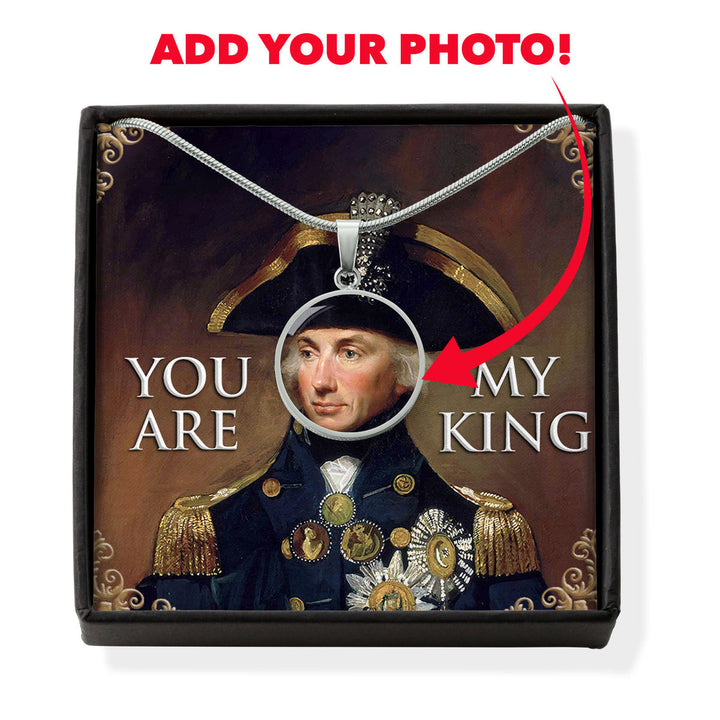 Horatio Nelson 1st Customized Photo Circle Pendant with POD Message Card