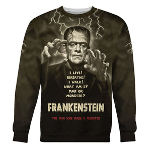 Frankenstein Mary Shelley Long Sleeves / S Qm1306