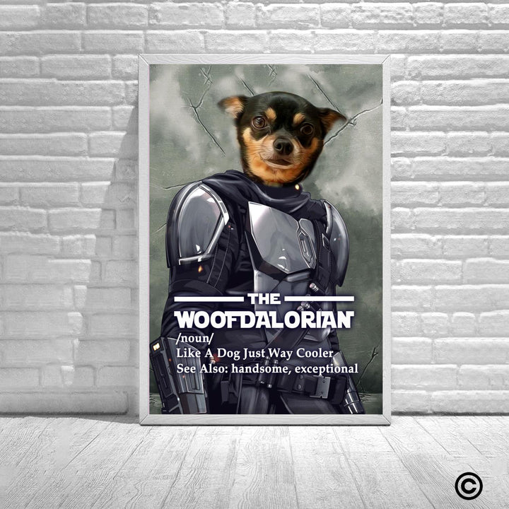 Personalized Photos Poster-DCS-QM2352-Woofdalorian Customized Pet Canvas