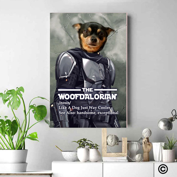 Personalized Canvas-DCS-QM2352-Woofdalorian