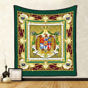 Kingdom Of Italy (Napoleonic) Coat Arms Quilt / S (37.8 X 44.9 Inches/ 3.1 3.7 Feet) Qm1333