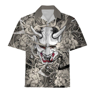Oni Mask Hawaiian Shirt / S Qm1460