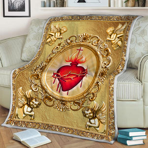 Sacred Heart Blanket / S (51 X 59 Inches - 4 5 Feet ) Qm1179