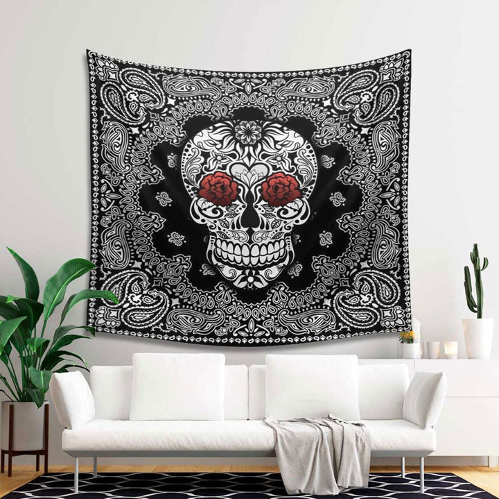 Skull Tapestry - 4 Holes / S (27.6 X 39.4 Inches 2.3 3.2 Feet) Kd143