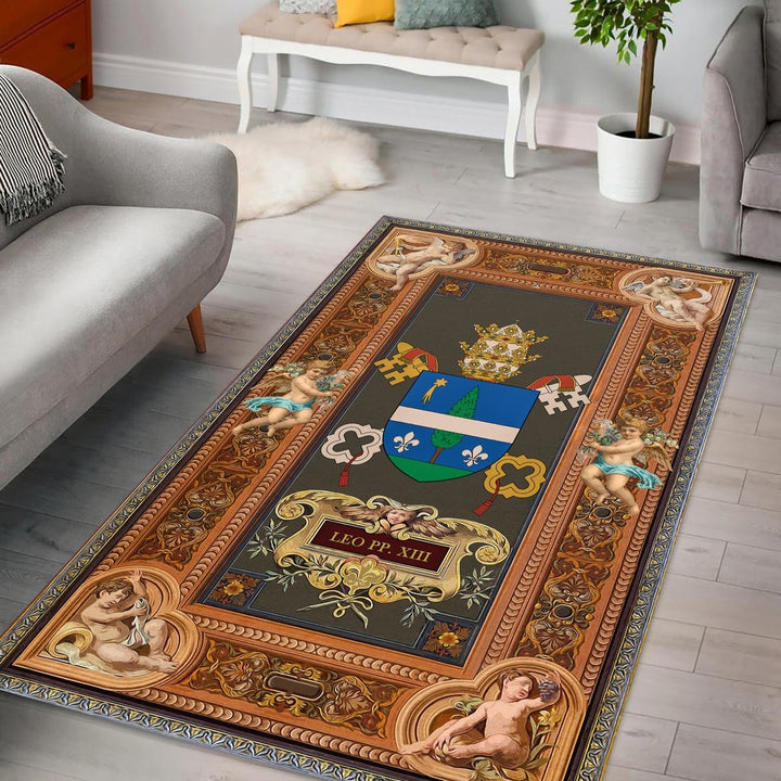 Pope Leo Xiii Coat Of Arms Rug / Small (3 X 5 Feet - 35 59 Inches) Qm1346