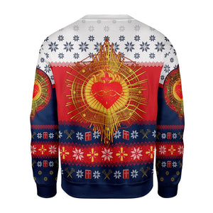 Sacred Heart Ugly Sweater Qr1632