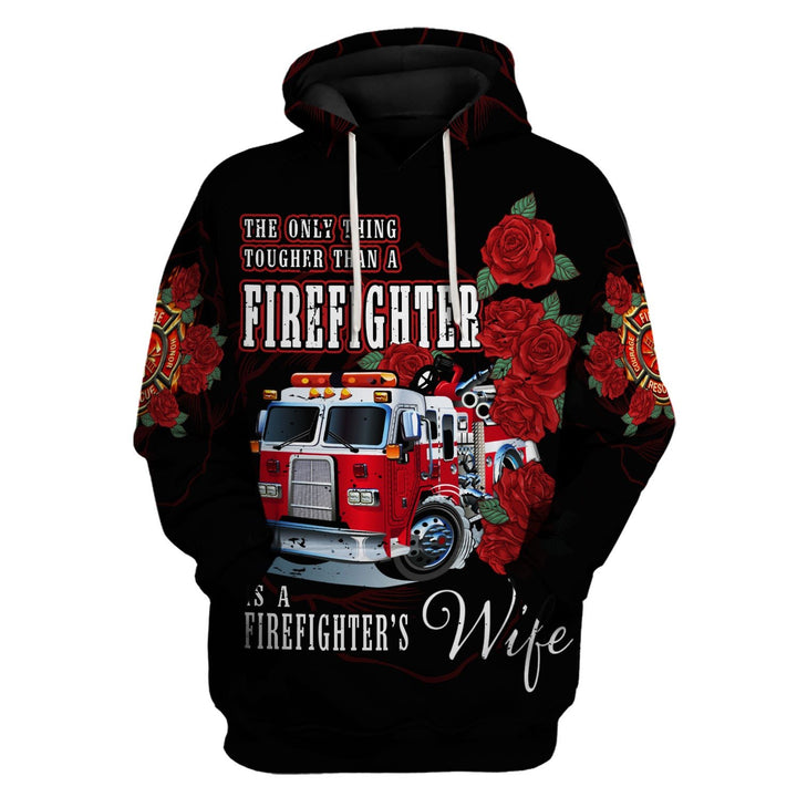 Firefighters Wife 3D Hoodie / S Vn792
