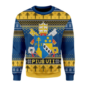 Pius Vii Coat Of Arms Ugly Sweater / S Qm1552