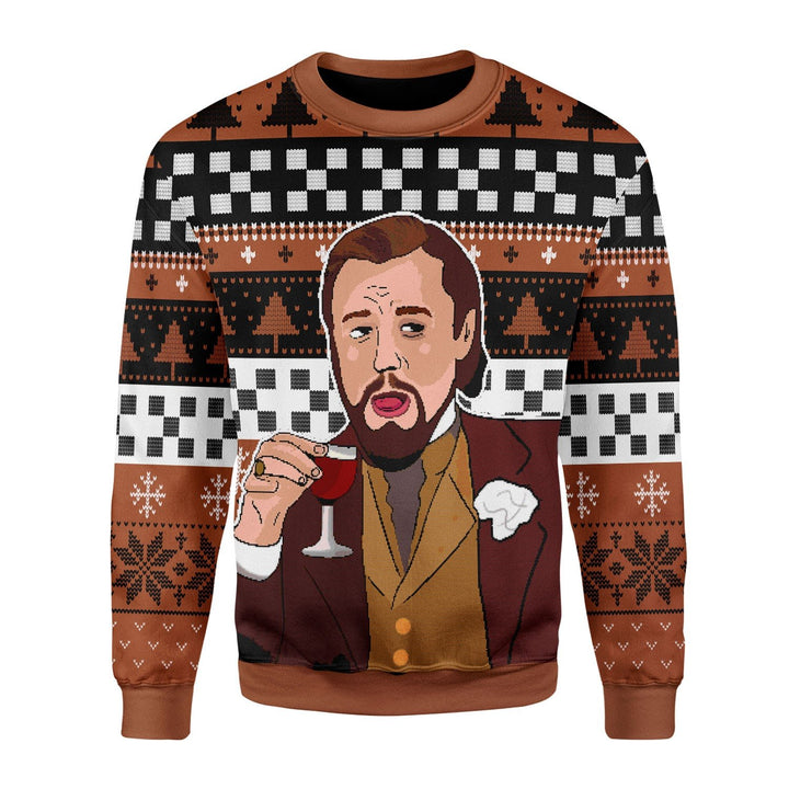 Laughing Leo Meme Ugly Sweater Chrristmas / S Qr1712