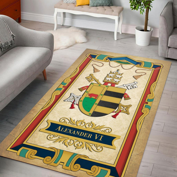 Pope Alexander Vi Rug / Small (3 X 5 Feet - 35 59 Inches) Qm1397